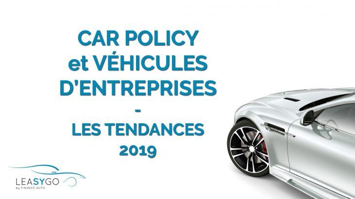 CARPOLICY et véhicules d'entreprise 2019