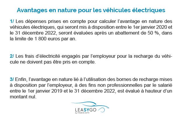 Avantages en nature véhicules électriques